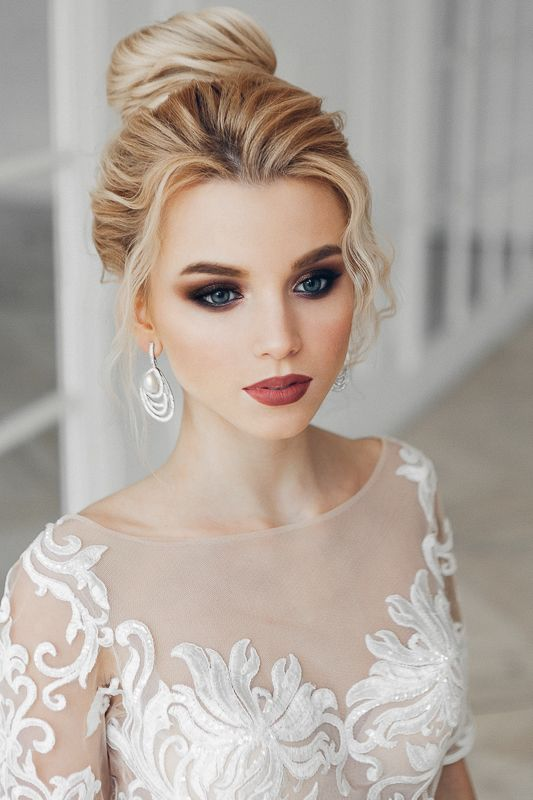 Stunning Natural Wedding Hairstyle for Bride 11