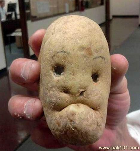 funny face potato