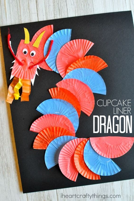 1 AWESOME CUPCAKE LINER DRAGON CRAFT