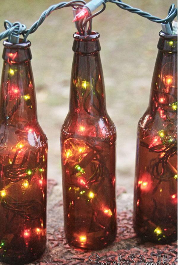 1 Beer Bottle Lights for Holiday Decor