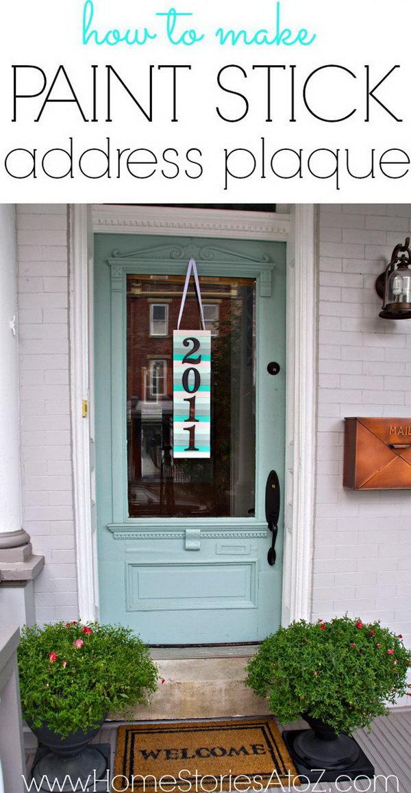 1 DIY Address Plaque Paint Stir Art