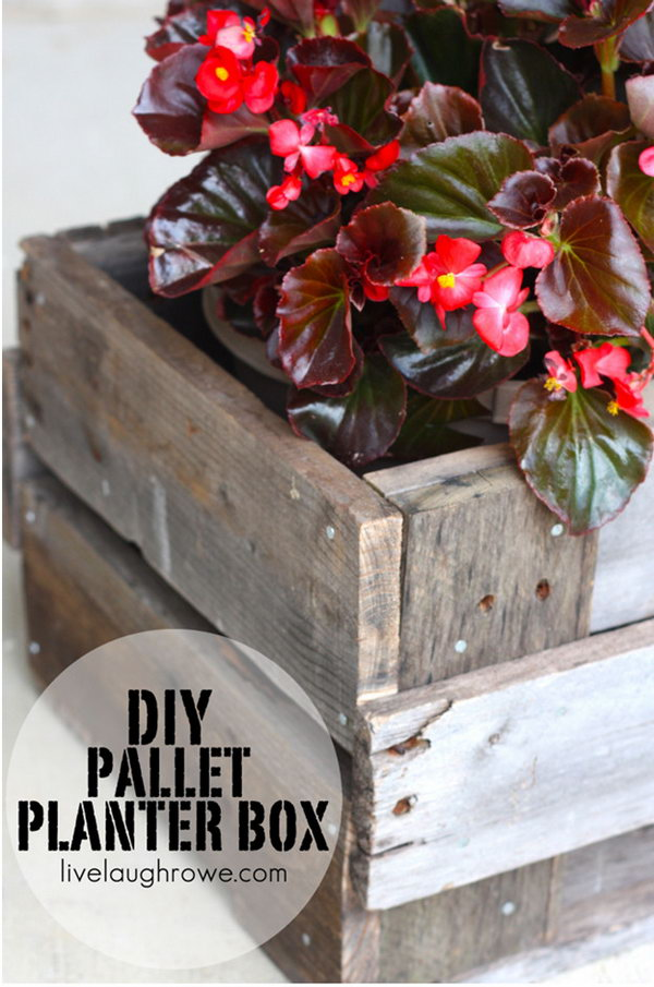 16 This DIY Pallet Planter Box Adds A Rustic Touch To Your Home