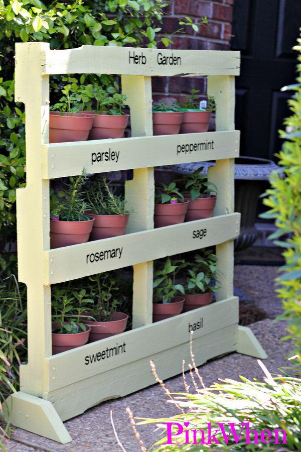 2 Vertical Pallet Herb Garden