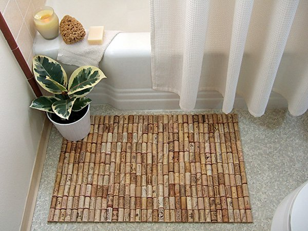 21 Wine Cork Bath Mat