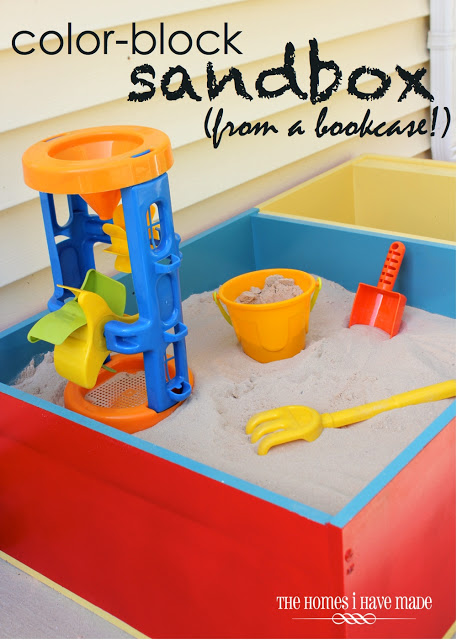 22 Color-Block-Sandbox-from-a-Bookcase