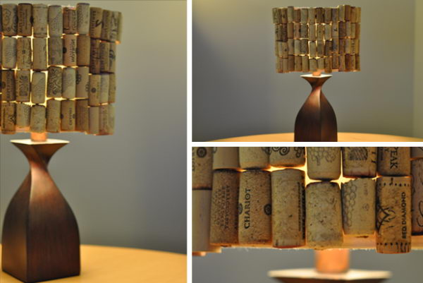 26 Homemade Wine Cork Lampshade