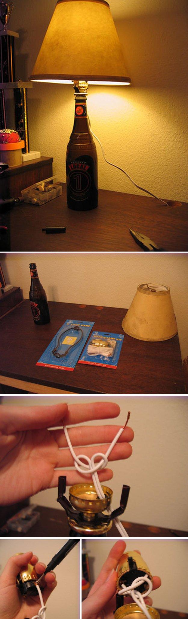 28 Beer Bottle Lamp