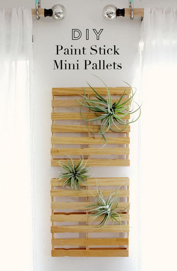 3 DIY Paint Stick Mini Pallets