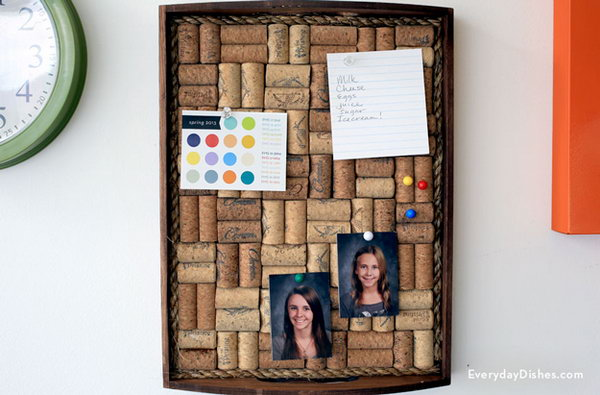 31 DIY Wine Cork Board