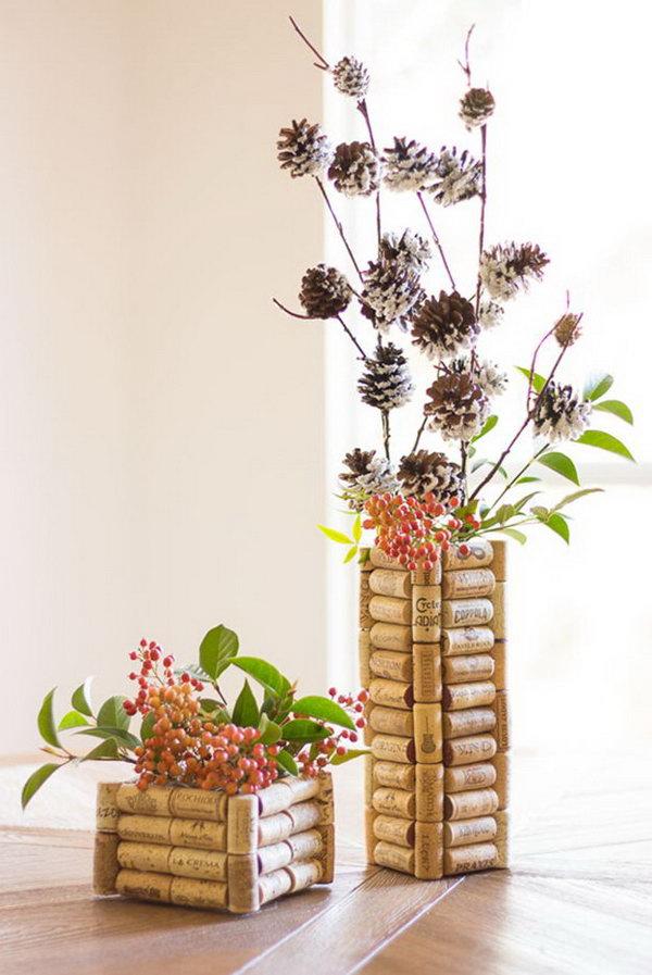 6 Wine Cork Vases