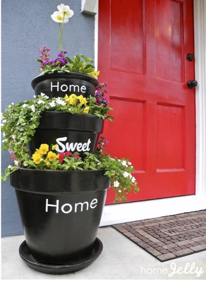 8 Unique  DIY Planter Ideas For Your Front Porch