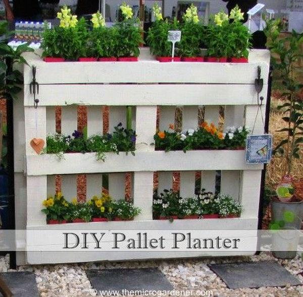 8 Use Diy Pallet Planter As A Compact Solution For Your Garden