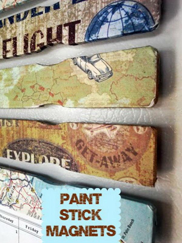 9 Decoupage Paint Stick Magnets