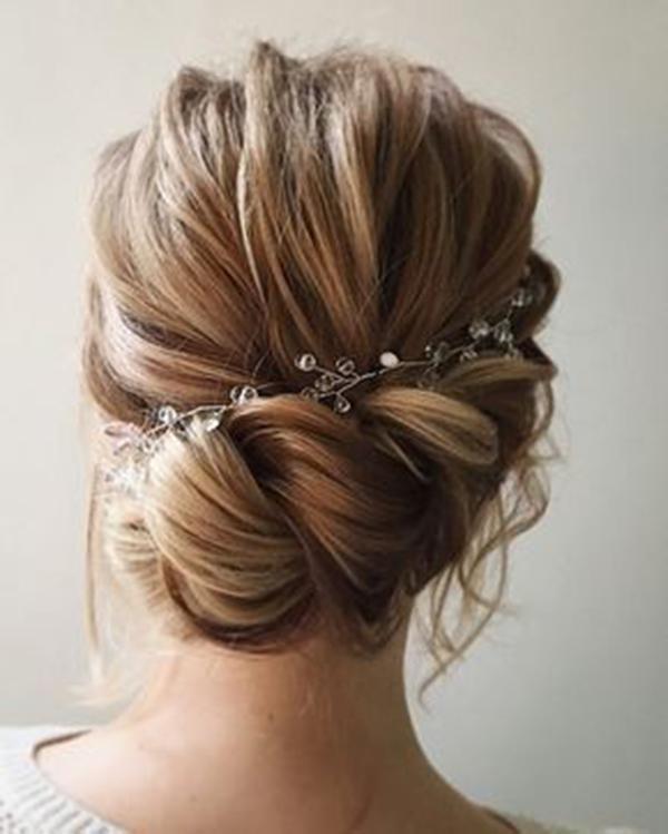 HALF UP HALF DOWN WEDDING HAIRSTYLES IDEAS 15