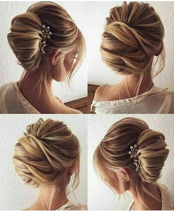 HALF UP HALF DOWN WEDDING HAIRSTYLES IDEAS 16