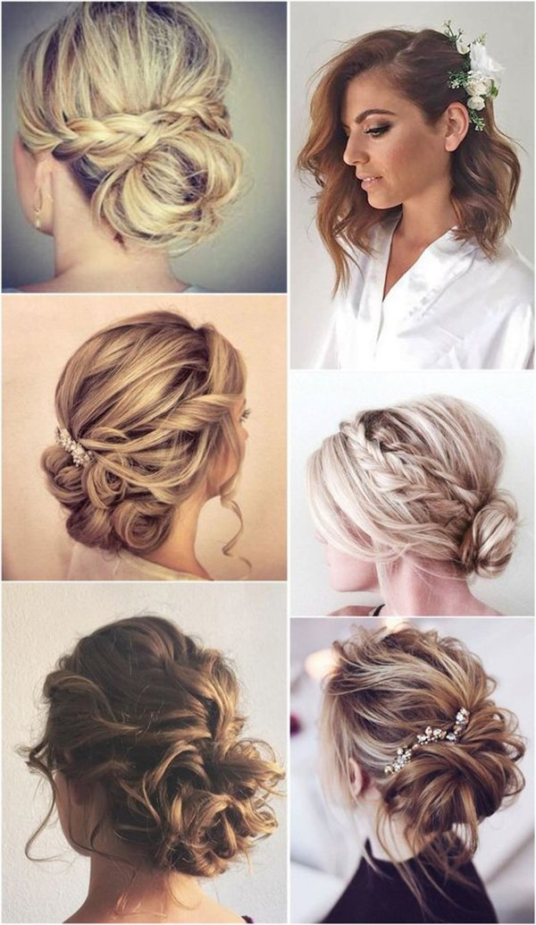 HALF UP HALF DOWN WEDDING HAIRSTYLES IDEAS 19
