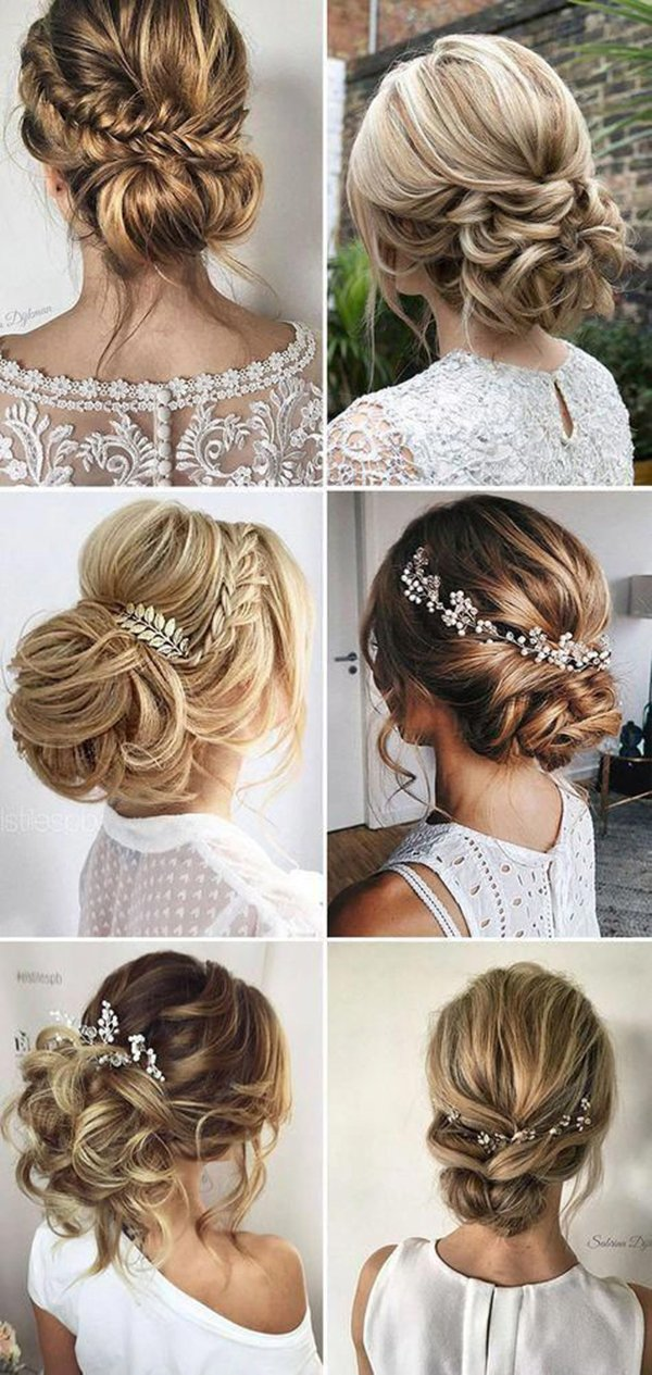 HALF UP HALF DOWN WEDDING HAIRSTYLES IDEAS 25
