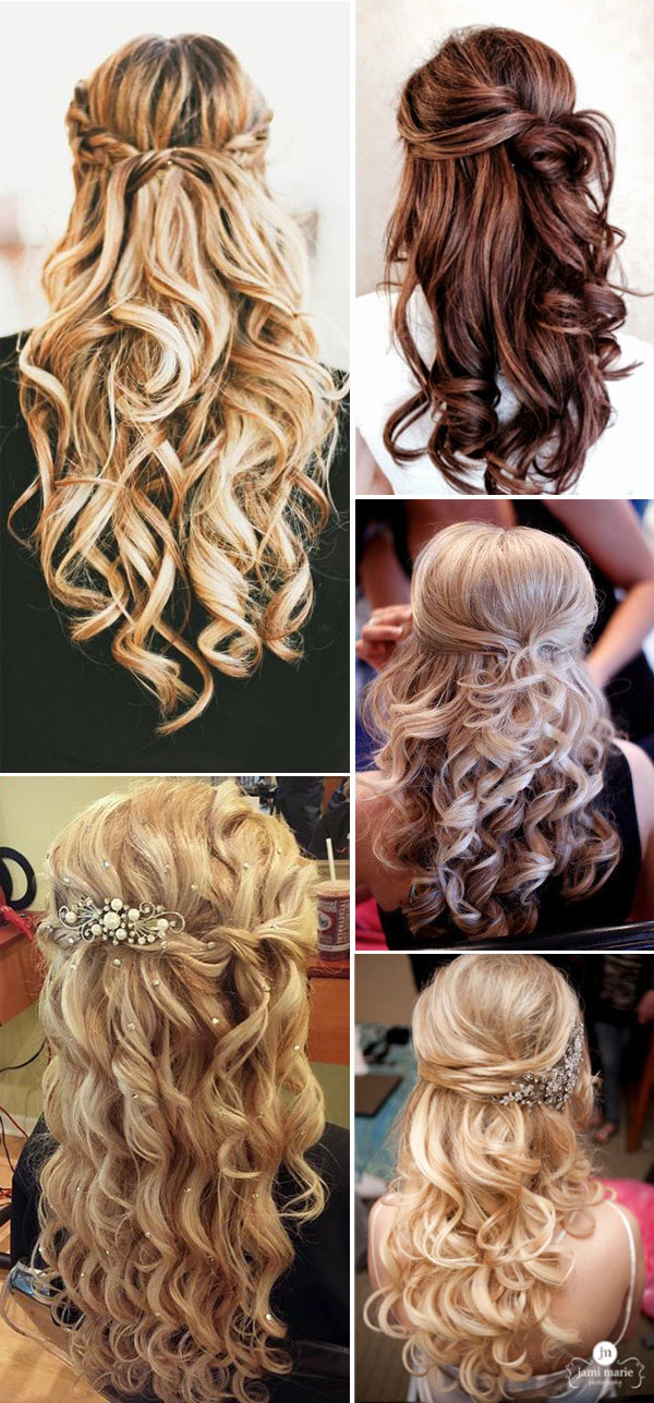 HALF UP HALF DOWN WEDDING HAIRSTYLES IDEAS 4