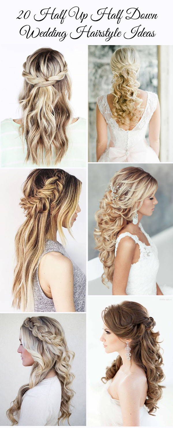 HALF UP HALF DOWN WEDDING HAIRSTYLES IDEAS 5