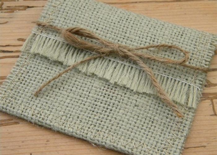 1 Burlap Gift Card Holder
