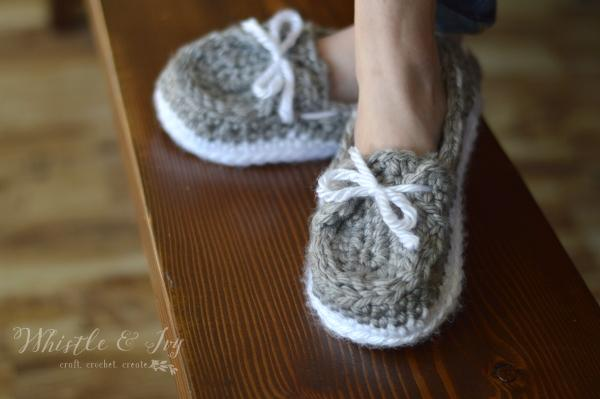 1 Womens Chunky Boat Slippers