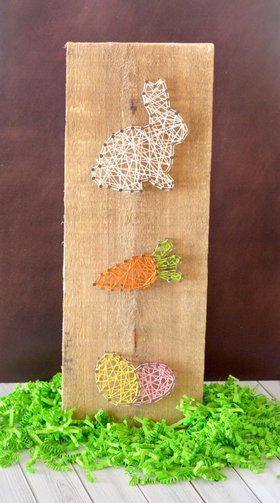 10 Spring Easter bunny  carrot egg string art craft