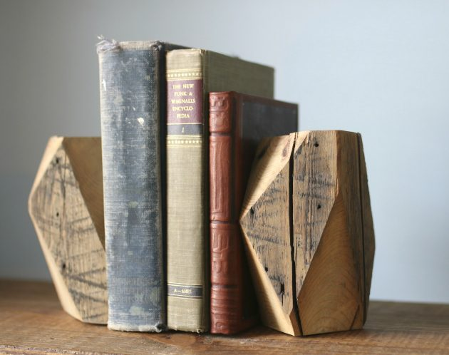 11 Rustic Modern Geometric Bookends