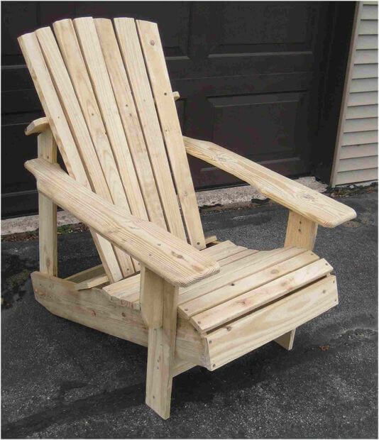 12 Wooden Pallet Adirondack Chair