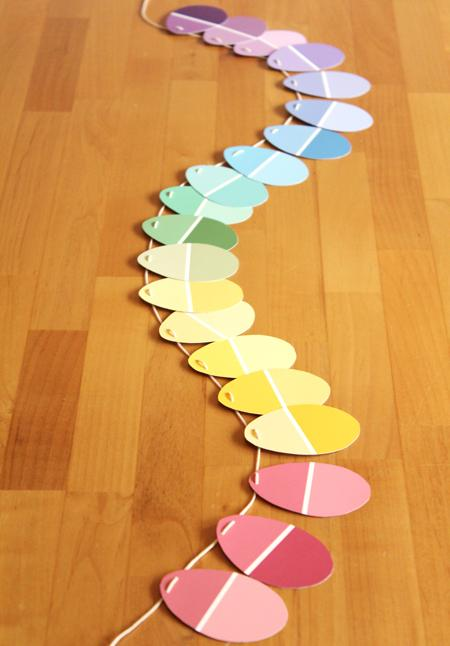 13 Paint Chip Easter Garland