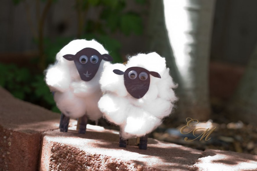 14 Cotton Ball Sheep