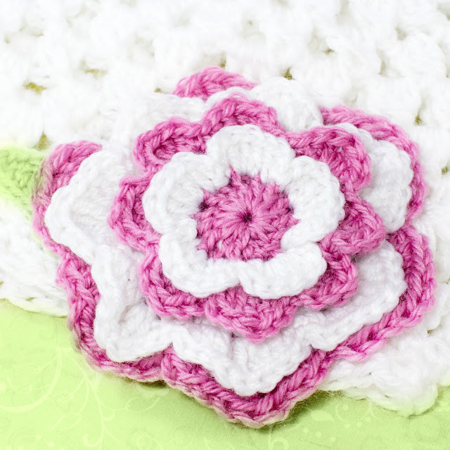 15 Candy Striped Crochet Flower