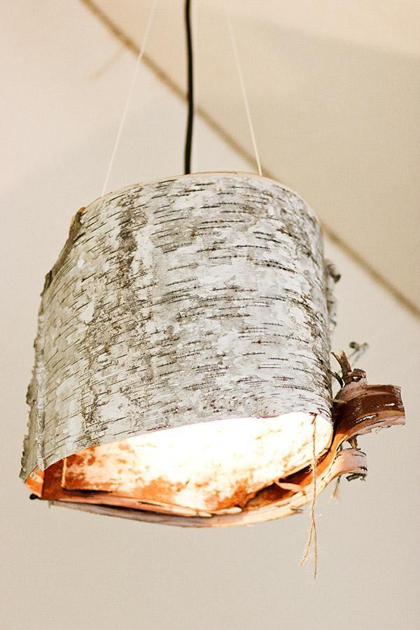 16 Birch bark lamp