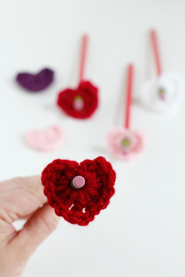 16 Heart Pencil Topper