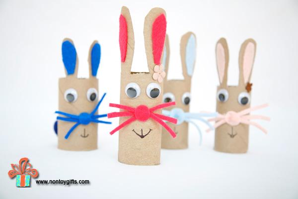 16 Paper Roll Bunnies