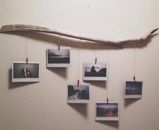 18 Driftwood Photo Hanger