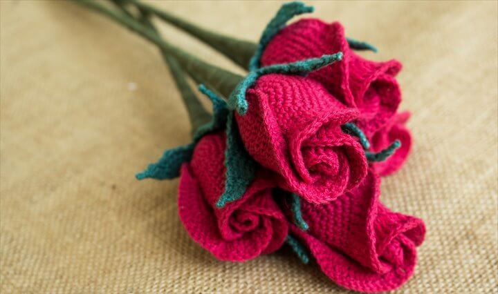 19 Crochet Closed Rose