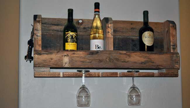 2 Pallet Wine Rack