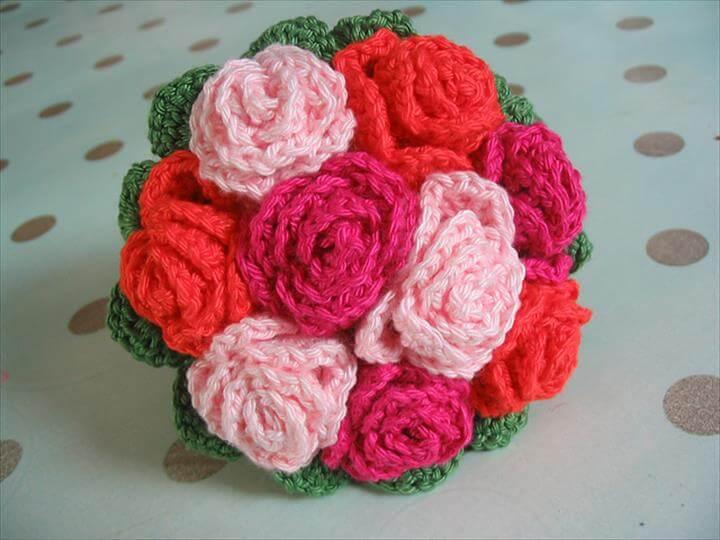 20 Crochet Wedding Flower Bouquet