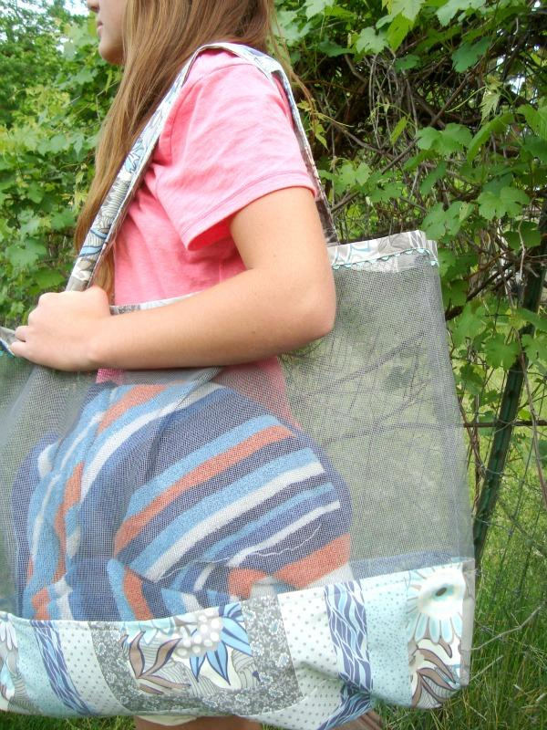 20 Large Mesh Beach Tote Bag