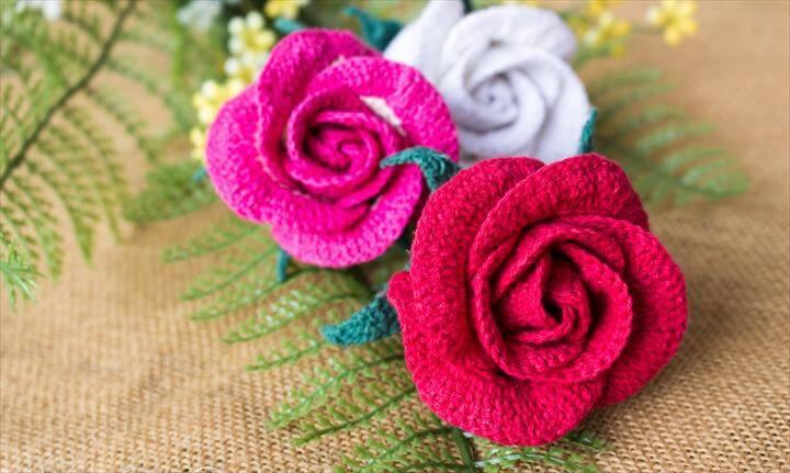 21 Amazing Crochet Rose Bud