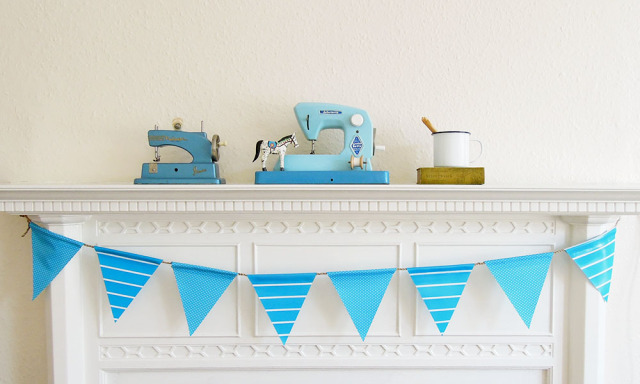 21 No-Sew Oilcloth Bunting