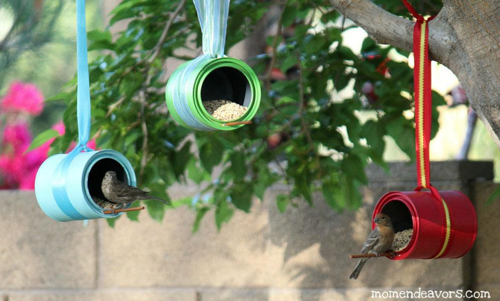 21 Tin Can Bird Feeders