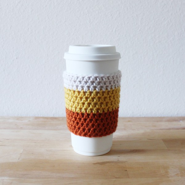 23 Candy Corn Coffee Cozy