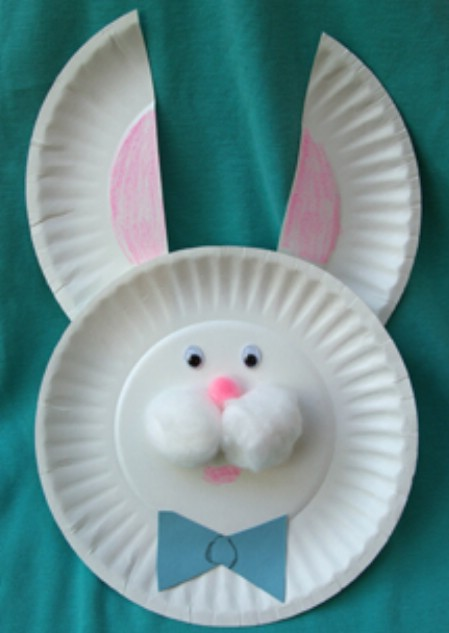 23 Easter Bunny from Small Paper Plates