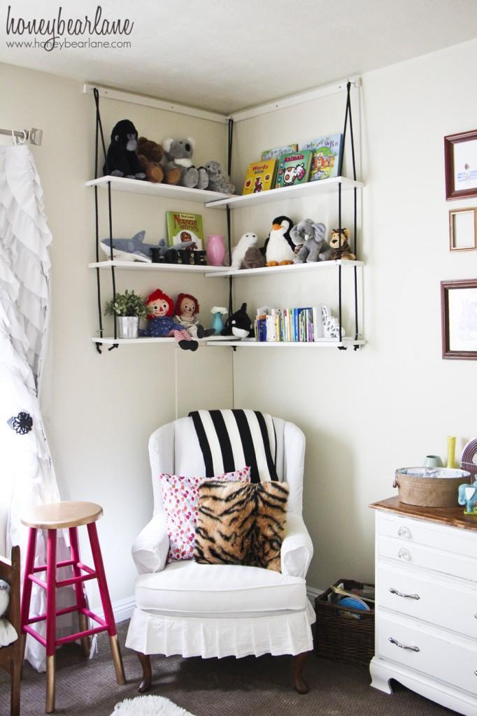 24 DIY Corner Rope Shelves