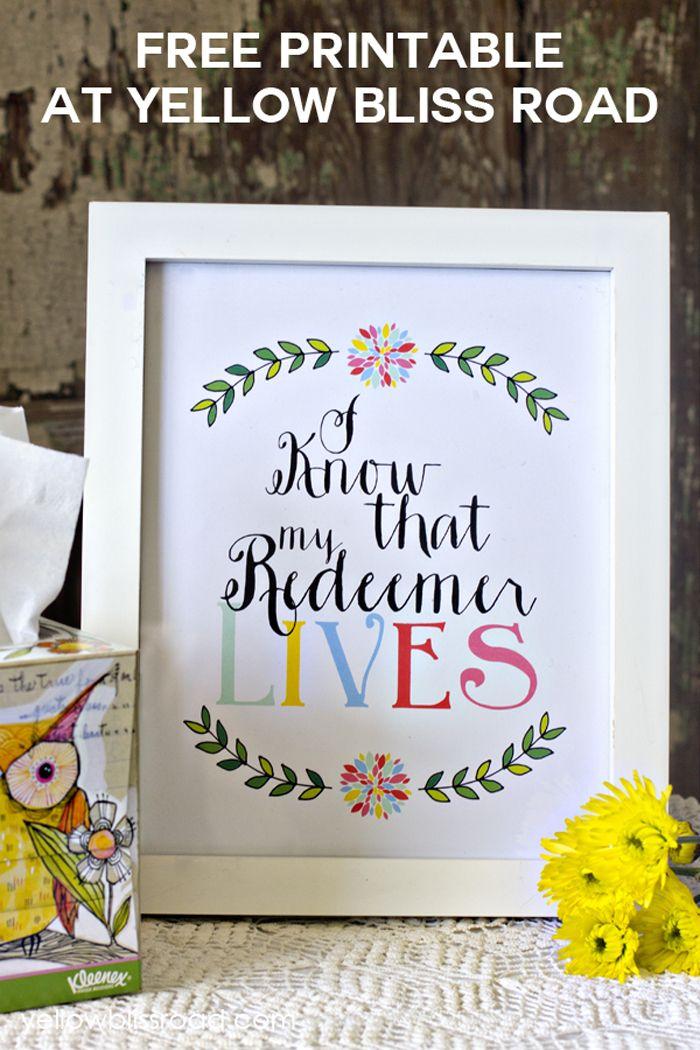 24 My Redeemer Lives Free Printable
