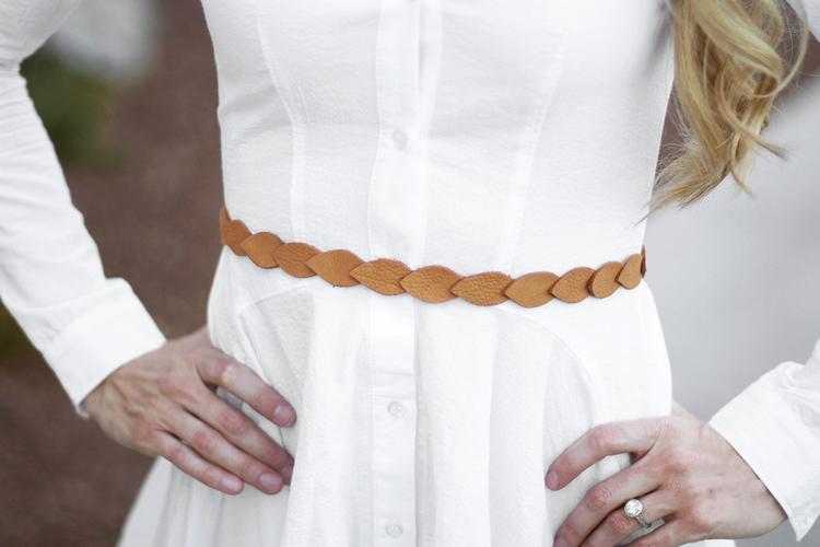 25 DIY Leather Petal Belt