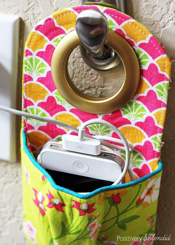 25 Fabric Phone Charging Station