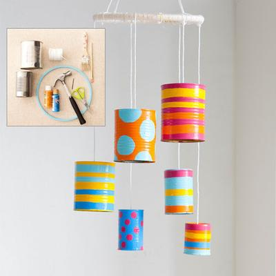27 Tin Can Wind Chime