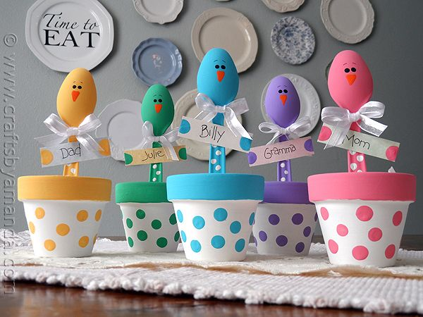 28 Easter Chick Place Holders